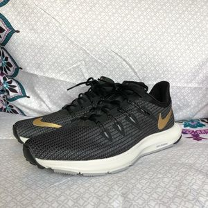 Nike Running Sneakers—Black and Gold